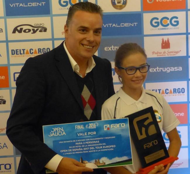 ALBA GONZALEZ FERNANDEZ, GANADORA EN AERO CLUB DE SANTIAGO