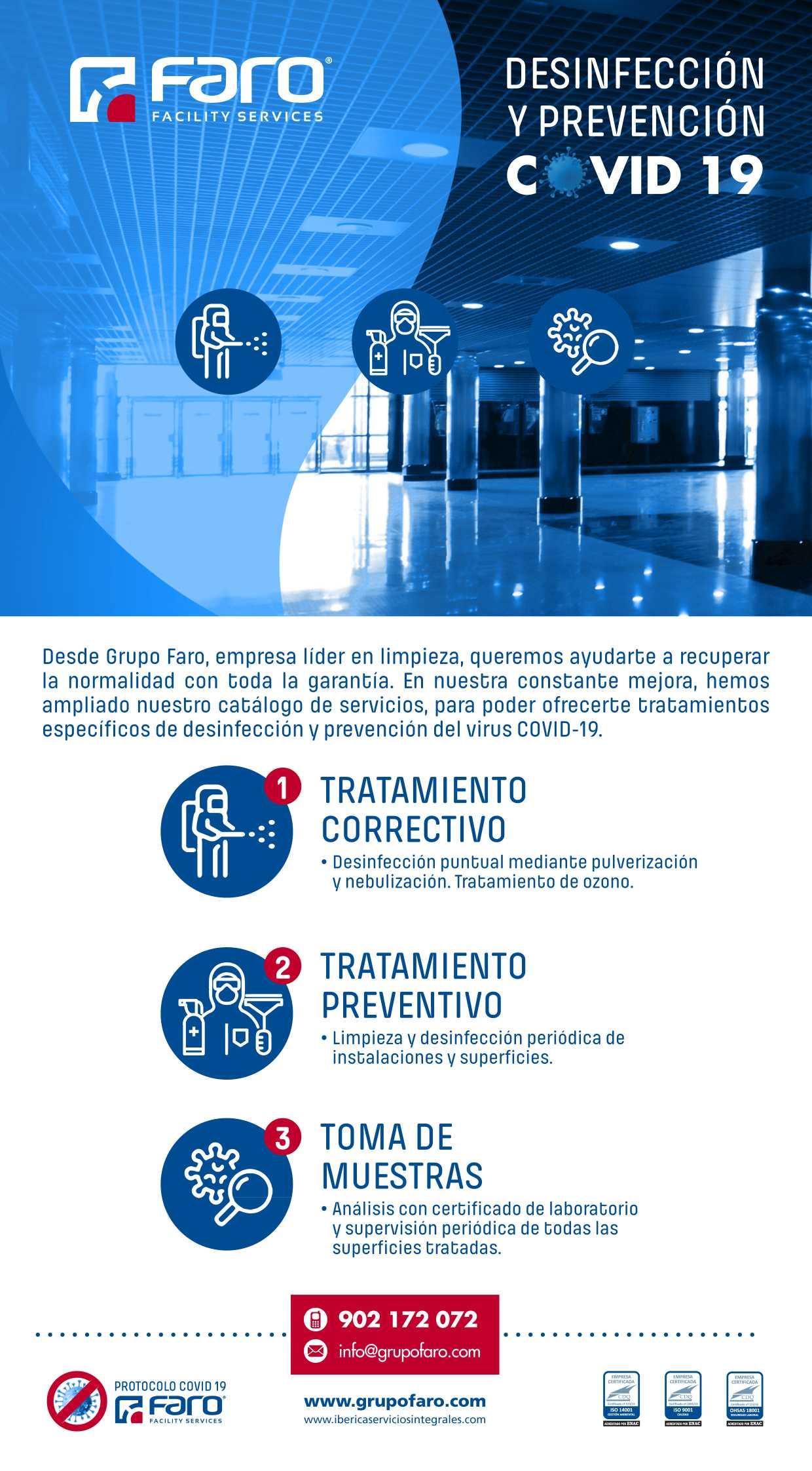 DESINFECCIÓN Y PREVENCIÓN FARO COVID-19