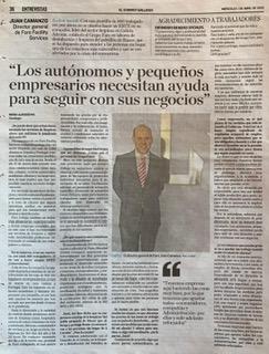 Entrevista El Correo Gallego a Juan Camanzo, Director General de Grupo Faro