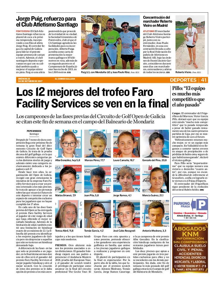 LOS 12 MEJORES DEL TROFEO FARO Facility Services se ven en la final de este fin de semana en Mondariz